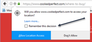 cooked perfect where to buy help firefox allow location access