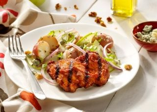 cooked perfect recipe chicken thighs with red bliss potato salad