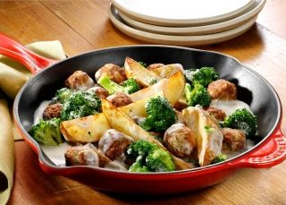 cooked perfect recipe potato meatball skillet