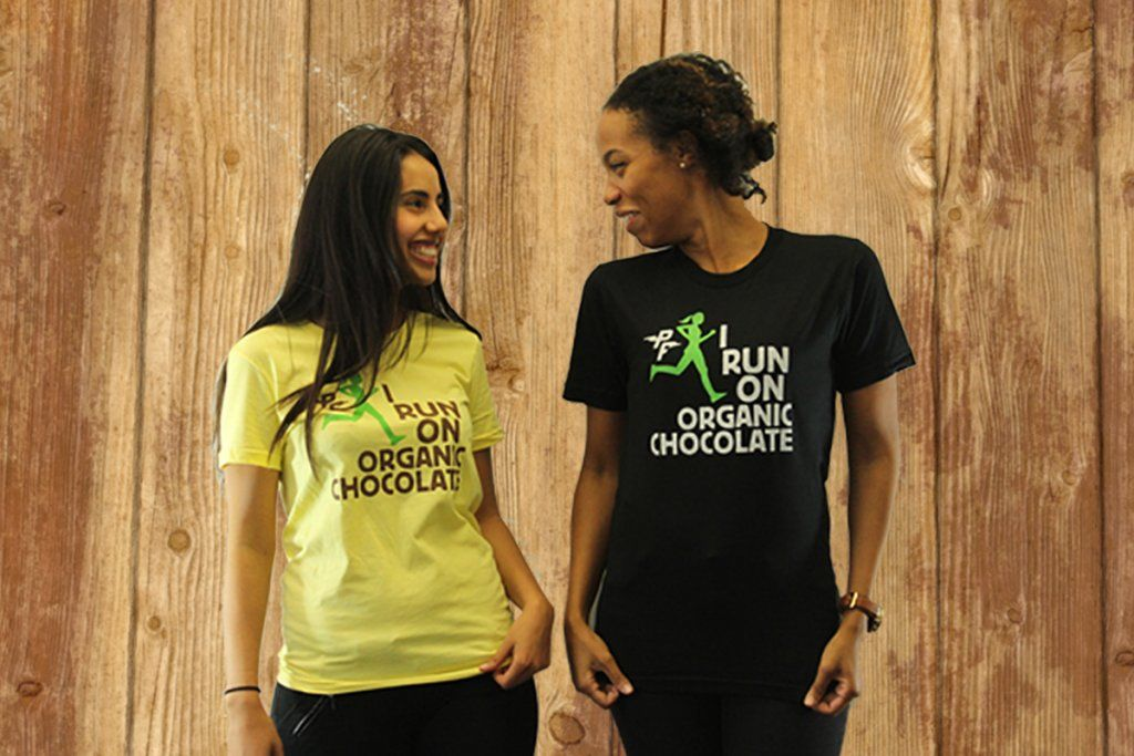 home market foods perfect fuel i run on dark chocolate t shirts