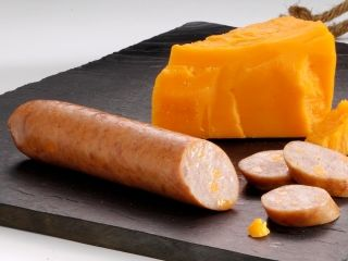 home market foods bahama mama premium sausage with cheddar