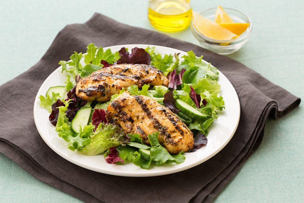 cooked perfect recipe lemon herb fire grilled chicken tenders with cucumber salad