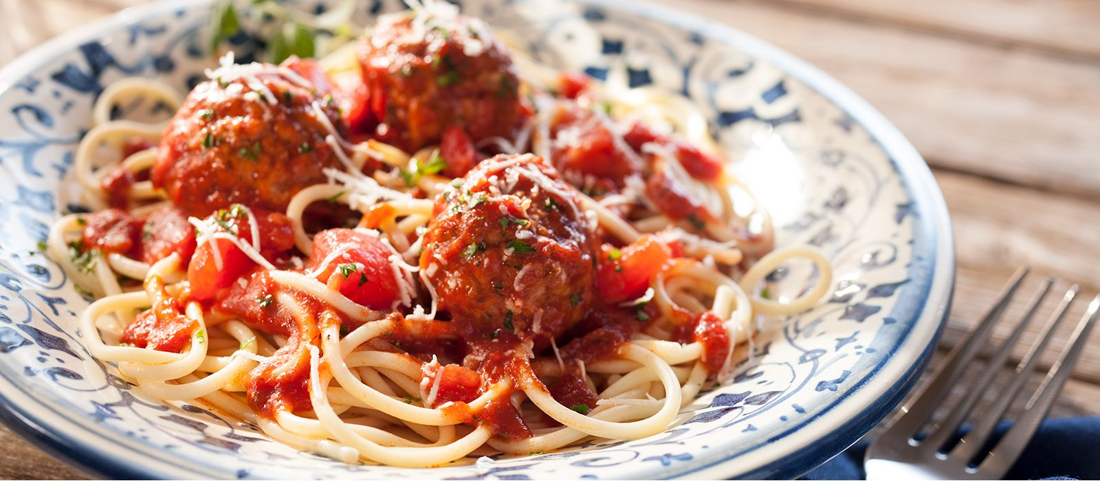 home market foods cooked perfect meatballs and pasta