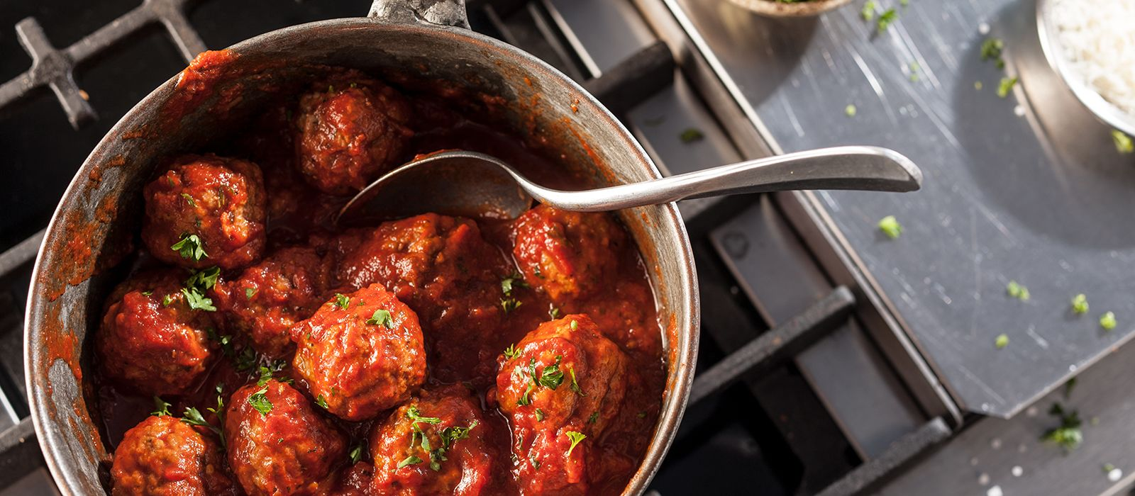 home market foods cooked perfect meatballs in pan